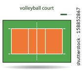 Volleyball Court Or Field Top...