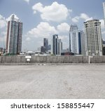 urban  carpark on city... | Shutterstock . vector #158855447