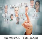 close up of a man selecting a... | Shutterstock . vector #158856683