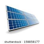 isolated solar panel   Shutterstock .eps vector #158858177
