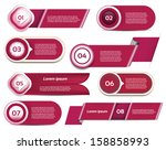 set of red violet vector... | Shutterstock .eps vector #158858993