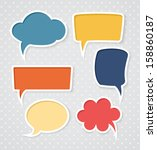 set of colorful speech bubbles | Shutterstock .eps vector #158860187