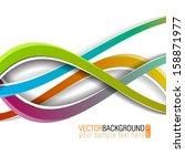 vector modern abstract... | Shutterstock .eps vector #158871977