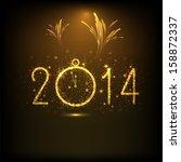 happy new year 2014 night... | Shutterstock .eps vector #158872337