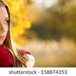 portrait of beautiful girl in... | Shutterstock . vector #158874353