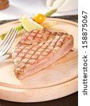 Medium Rare Tuna Steak On A...