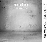 grunge retro vintage interior ... | Shutterstock .eps vector #158888327