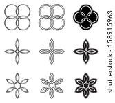 set of celtic knot design...   Shutterstock .eps vector #158915963