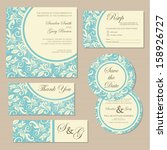 set of vintage floral wedding... | Shutterstock .eps vector #158926727