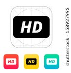 high definition icon. vector... | Shutterstock .eps vector #158927993