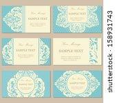floral vintage business or... | Shutterstock .eps vector #158931743