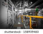 equipments  pipes in a modern... | Shutterstock . vector #158939483