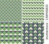 geometric seamless patterns set.... | Shutterstock .eps vector #158940833