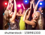 young people having fun dancing ... | Shutterstock . vector #158981333