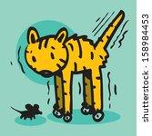mouse vs cat vector... | Shutterstock .eps vector #158984453