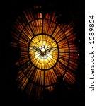 holy spirit window | Shutterstock . vector #1589854