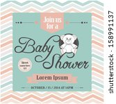 baby shower invitation | Shutterstock .eps vector #158991137