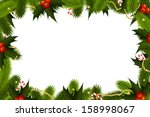 Christmas Frame Template With...