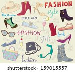 background with fashion shoes