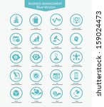 business management icons blue... | Shutterstock .eps vector #159024473