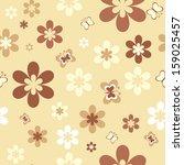 flowers and butterflies... | Shutterstock .eps vector #159025457