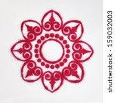 rangoli  an indian traditional... | Shutterstock . vector #159032003