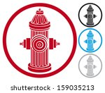 fire hydrant symbol  | Shutterstock .eps vector #159035213