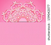 pink delicate design greeting... | Shutterstock .eps vector #159042077