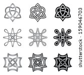 celtic knot design elements   Shutterstock .eps vector #159046703