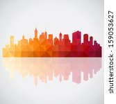 abstract colorful panorama city ... | Shutterstock .eps vector #159053627