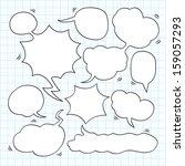 comic speech bubble | Shutterstock .eps vector #159057293