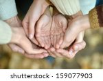 hands on the background of... | Shutterstock . vector #159077903