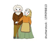 adorable smiling grandma and... | Shutterstock .eps vector #159098813