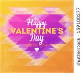 happy valentines day card.... | Shutterstock .eps vector #159100277