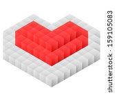 heart. cubes. vector   Shutterstock .eps vector #159105083
