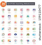 seo  search engine optimization ... | Shutterstock .eps vector #159110477