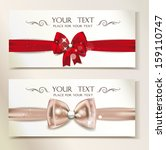 holiday elegant banners with... | Shutterstock .eps vector #159110747