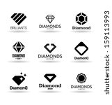 diamonds  4  | Shutterstock .eps vector #159113993
