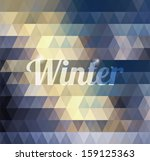 abstract geometric winter... | Shutterstock .eps vector #159125363