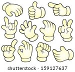 cartoon hands theme collection... | Shutterstock .eps vector #159127637