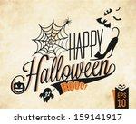 happy halloween vector... | Shutterstock .eps vector #159141917