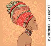 pretty african american girl in ...   Shutterstock .eps vector #159150467