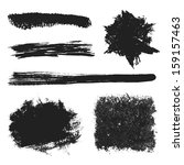 vector black grunge brushes set ... | Shutterstock .eps vector #159157463
