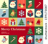 christmas design template card. ... | Shutterstock .eps vector #159173087