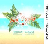 summer background with sunny... | Shutterstock .eps vector #159206303