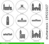 american capitals   symbolized...   Shutterstock .eps vector #159221027