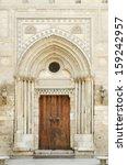 mosque door in cairo old town... | Shutterstock . vector #159242957