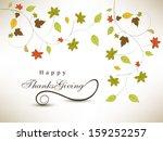happy thanksgiving day... | Shutterstock .eps vector #159252257