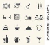 restaurant icons set.  | Shutterstock .eps vector #159253943