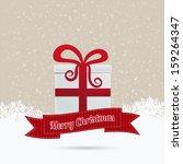 gift merry christmas ribbon... | Shutterstock .eps vector #159264347